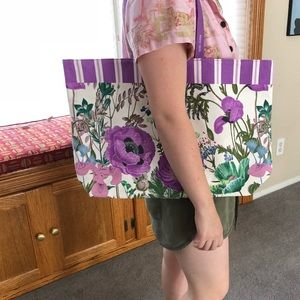 Estée Lauder flower tote bag